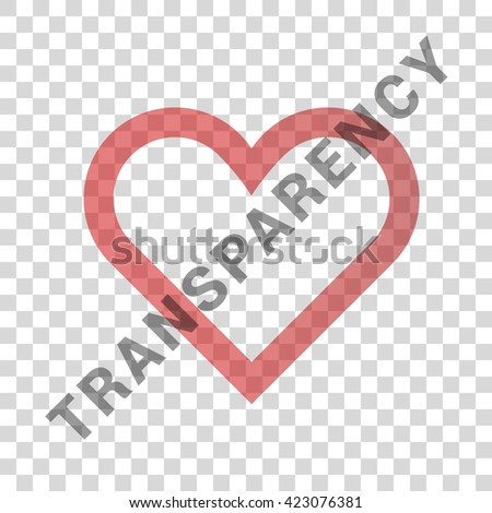 heart transparency background illustration - stock vector