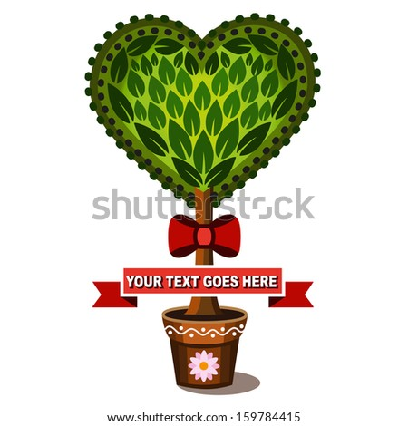 Heart tree - stock vector
