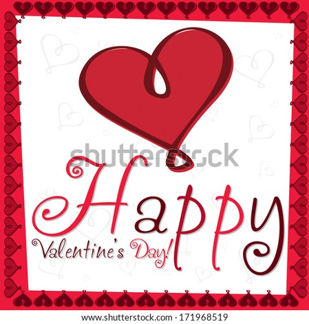 Heart Valentine's day card in vector format. - stock vector