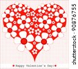 Heart Valentines Day background or card. - stock vector