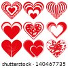 heart vector few simple one file eps 8 / heart vector / ml1413 - stock vector