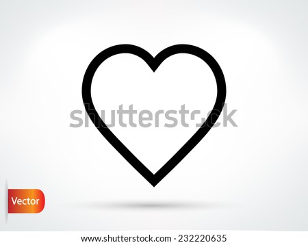 heart - Vector icon - stock vector