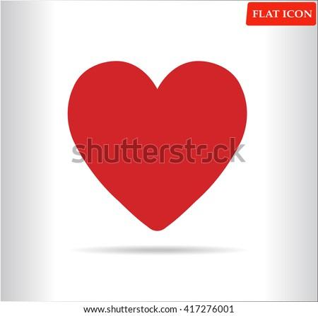 Heart vector icon.flat design - stock vector
