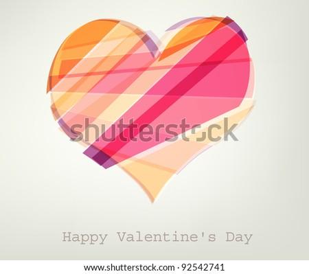 Heart Vector Illustration. Valentine's day - stock vector