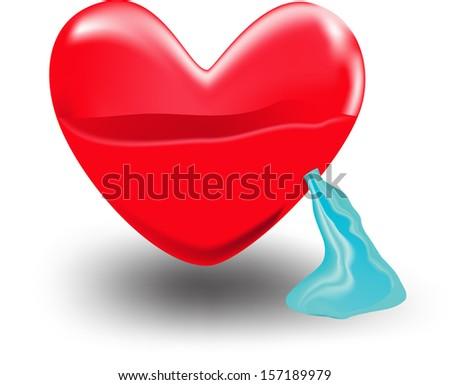 Heart water - stock vector