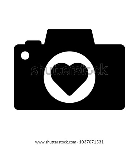 heart camera vector icon web mobile stock vector 1037071531 rh shutterstock com camera vector icon psd camera vector icon free download