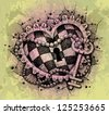Heart with key drawn by hand - stock photo