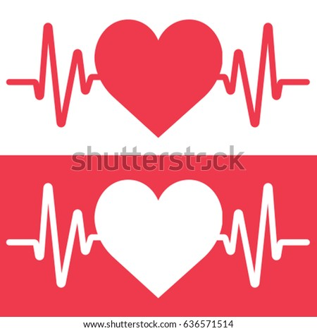 heartbeat stock vector hd royalty free 636571514 shutterstock rh shutterstock com baseball heartbeat clipart free heartbeat clipart images