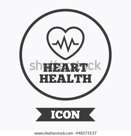 Heartbeat Sign Icon Heart Health Cardiogram Stock Vector 448373137