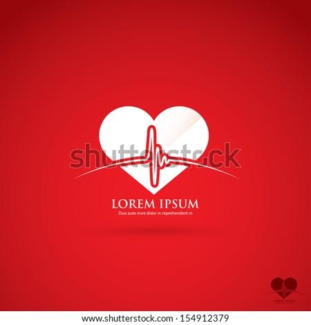 Heartbeat symbol - vector illustration - stock vector