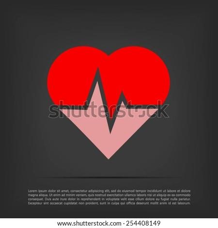 heartbeat vector icon - stock vector
