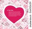 Hearts Background Vector - stock vector