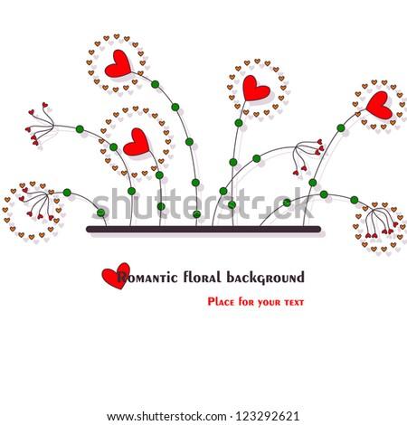 hearts background, vector - stock vector