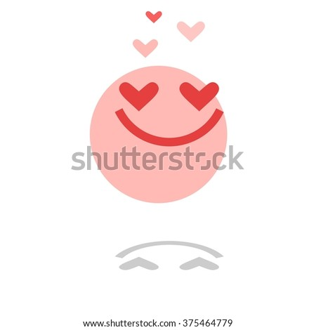 Hearts. Icons. Vector. Person / smiles / angry. Vector illustration. - stock vector
