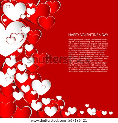 Hearts On Abstract Love Backgroundlove Romantic Vector – Romantic Valentines Card Messages