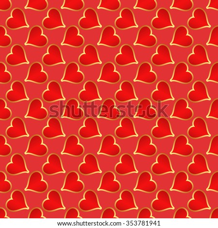hearts pattern seamless - stock vector