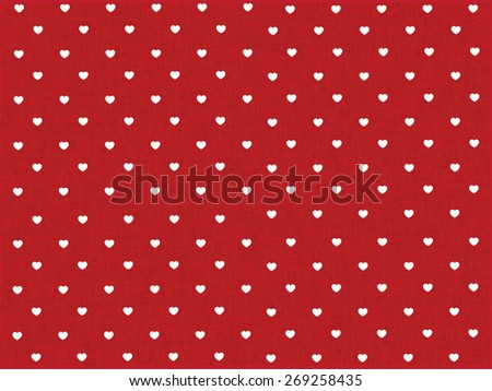 hearts polka dot pattern with red texture - stock vector