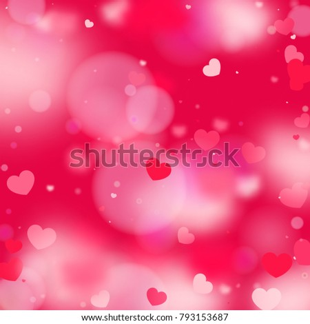 Hearts Random Background St Valentines Day Stock Vector 793153687 ...