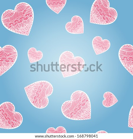 Hearts seamless background. St Valentine's Day
