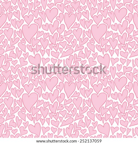 Hearts. Seamless pattern - stock vector