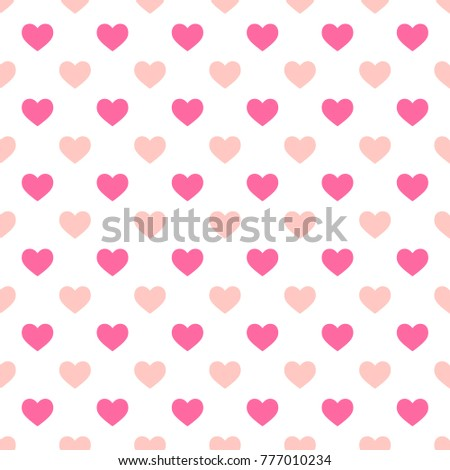 Hearts Seamless Pattern Valentines Day Romantic Stock Vector ...