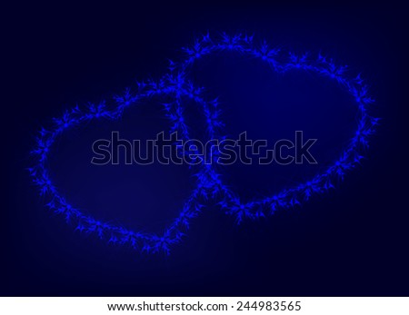 Hearts symbolizes love and passion. EPS10 vector illustration. - stock vector