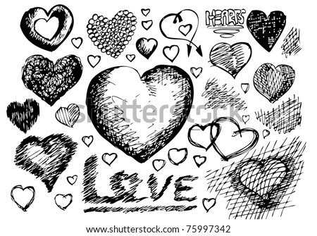 hearts symbols - stock vector