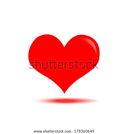 Hearts Vector Icon for background - stock vector