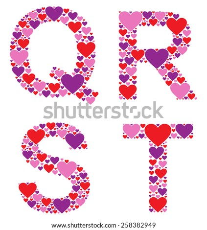 Hearty QRST - stock vector