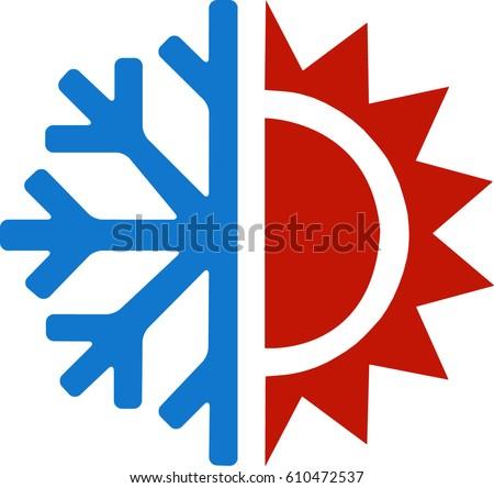 heating coolingのベクター画像素材 610472537 shutterstock