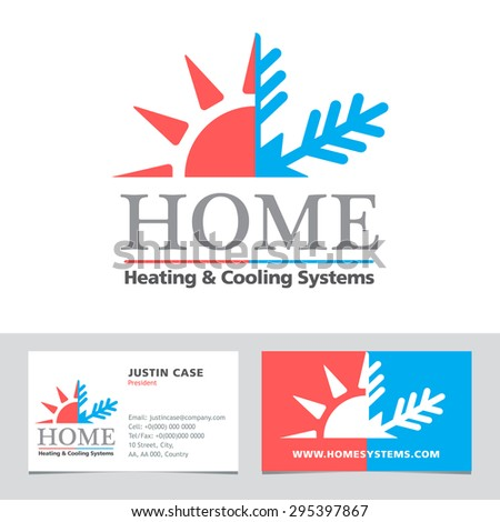 Heating cooling systems business icon business stock vector royalty heating cooling systems business icon business card vector template brand visualization template reheart Images