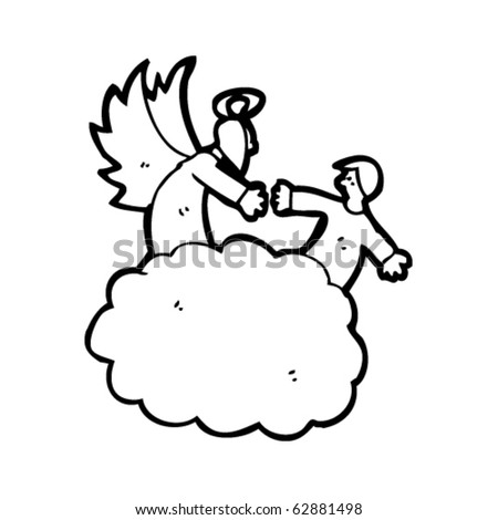 heaven cartoon - stock vector