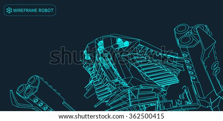 Heavy armed Mechanized Intelligent Vehicle . Original creation and modeling by the author. - stock vector