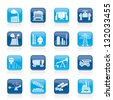 Heavy industry icons - vector icon set - stock vector