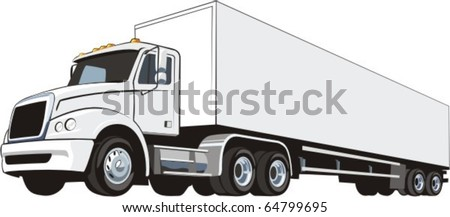 heavy truck for a international cargo transportation