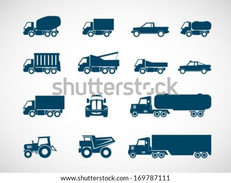 Heavy truck icon - stock vector