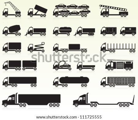 Heavy Vehicles - stock vector