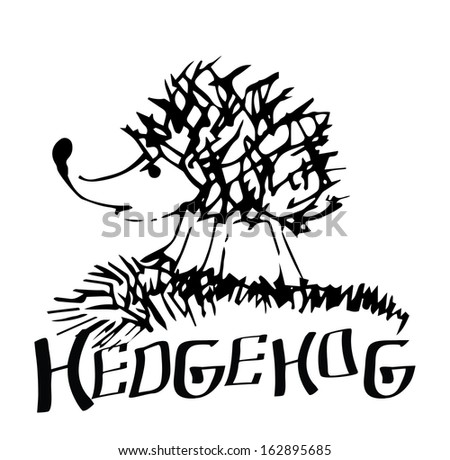 Hedgehog - stock vector