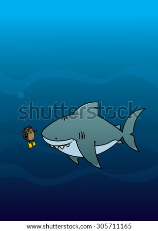 Hedgehog and shark.Funny,sweet and silly looking cartoon characters.vector illustration