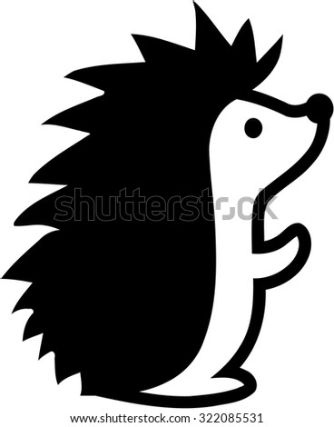 hedgehog silhouette isolated on white sticker stock vector cute snowman clipart images Cute Snowman Clip Art Black and White