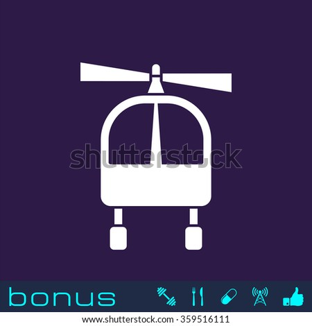 helicopter sign icon - stock vector