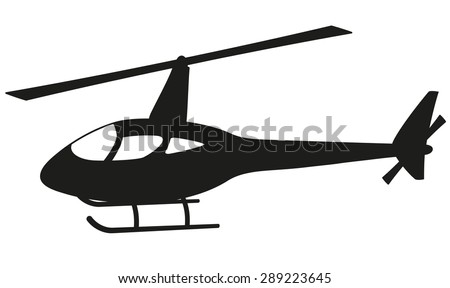 Helicopter silhouette - stock vector