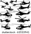 helicopters collection - vector - stock vector