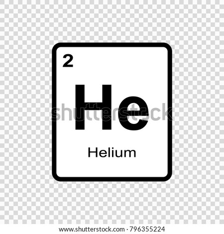 Helium chemical element sign atomic number stock vector 796355224 helium chemical element sign with atomic number chemical element of periodic table urtaz Choice Image
