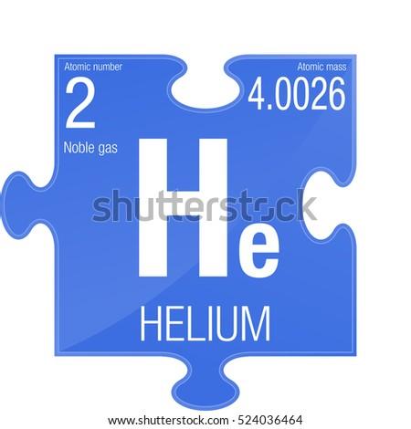 Helium Symbol Element Number 2 Periodic Stock Vector 524036464