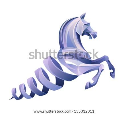 Helix horse - stock vector