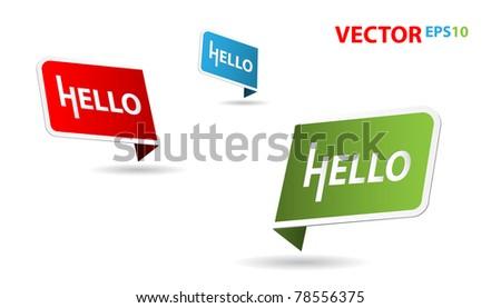 hello - stock vector