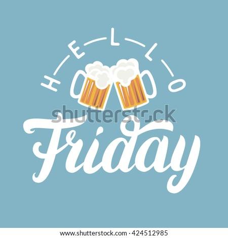 Set Beer Hand Written Lettering Logos Stock Vector 515235679 - Shutterstock
