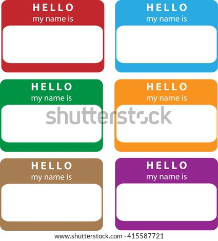 Hello, My name is - stock vector