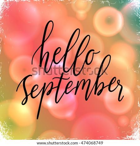 Hello September Greeting Card Witn Wonderful Image Nice Look